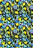 Seamless repeated floral pattern with flowers Royalty Free Stock Images