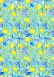 Seamless repeated floral template with art abstract flowers Stock Photos
