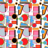 Seamless repeating background from multi-colored geometric shape. S.Vector Royalty Free Stock Photos