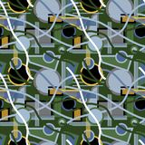 Seamless repeating background from multi-colored geometric shape. S.Vector Royalty Free Stock Photography