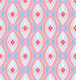 Retro seamless pattern. A seamless repeating background pattern of brightly colored retro style circles could be used for textiles wallpaper stationery or gift Royalty Free Stock Photo