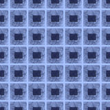 Seamless repeating block pattern in blues Stock Images