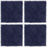 Seamless repeating block pattern in blues Stock Photo