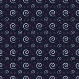 Seamless repeating Blue, pink white swirl pattern  Stock Photography