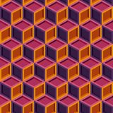Seamless repeating colorful isometric cube pattern texture element.  Royalty Free Stock Photography