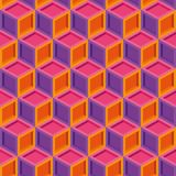 Seamless repeating colorful isometric cube pattern texture element.  vector illustration