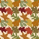 Seamless Repeating Fall Leaf Background Royalty Free Stock Photography