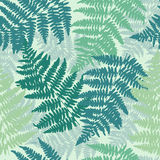 Seamless, repeating fern pattern background.  Royalty Free Stock Photography