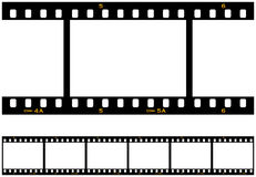 Seamless Repeating Filmstrip. Six (6) numbered frames of a seamless repeating filmstrip Stock Illustration