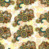 Seamless repeating floral pattern Royalty Free Stock Photos
