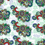 Seamless repeating floral pattern Stock Photo