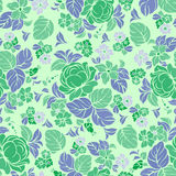 Seamless repeating floral pattern Stock Photos