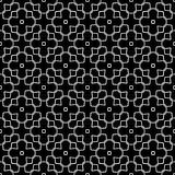 Black and white seamless wire checks geometrical pattern Royalty Free Stock Images