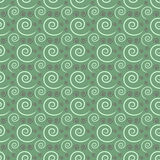 Seamless repeating green and white swirl pattern Royalty Free Stock Photography