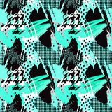 Seamless repeating  hand craft expressive ink pattern Royalty Free Stock Photography