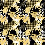 Seamless repeating  hand craft expressive ink pattern Stock Images
