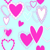 Seamless repeating hearts pattern Royalty Free Stock Photography