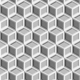Seamless repeating isometric grey cube pattern texture element.  Royalty Free Stock Photos