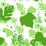 Seamless repeating leaf background texture. Vector illustration Stock Photography