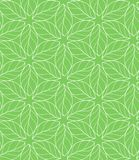 Seamless repeating linear leaves pattern Royalty Free Stock Photo