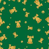 Seamless repeating New Year pattern stock images