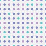 Seamless repeating pattern abstarct bright colorful circles shape on transparent background. Modern geometric vintage art. Fun stock illustration