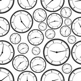 Seamless repeating pattern of abstract clock.Vector Stock Image