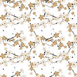 Seamless repeating pattern of blossoming flowers on a tree. Nature Royalty Free Stock Photography