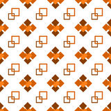 Seamless repeating pattern of brown squares. On white background stock illustration
