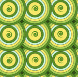 Seamless repeating pattern of circles and spirals.Vector Stock Images