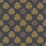 Seamless repeating pattern with colored abstract flowers. Royalty Free Stock Images