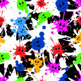 Seamless repeating pattern of colored blots. Vector Stock Images