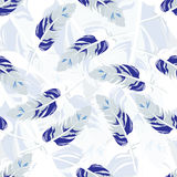 Seamless repeating pattern of colored feathers.Vector Stock Image