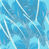 Seamless repeating pattern of colored feathers.Vector vector illustration