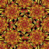 Seamless repeating pattern consisting of colored mandal royalty free illustration