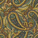 Seamless repeating pattern consisting of colored patterns buta Stock Images
