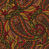 Seamless repeating pattern consisting of colored patterns buta Royalty Free Stock Photos