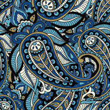 Seamless repeating pattern consisting of colored patterns buta Royalty Free Stock Photo