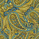 Seamless repeating pattern consisting of colored patterns buta Royalty Free Stock Photography