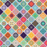 Seamless repeating pattern consisting of different mandalas Stock Photos
