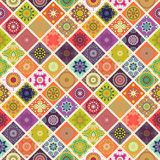 Seamless repeating pattern consisting of different mandalas Stock Images