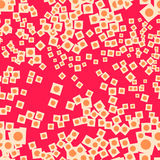 Seamless repeating pattern consisting of squares and circles. Vector Royalty Free Stock Photo