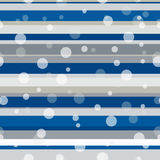 Seamless repeating pattern consisting of strips and circles Royalty Free Stock Photography