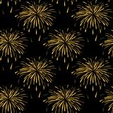 Seamless repeating pattern from the firework. Vector Royalty Free Stock Image