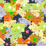 Seamless repeating pattern of gift boxes Stock Image
