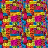 Seamless repeating pattern similar to cloth flaps. Vector Royalty Free Stock Photos