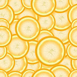 Seamless repeating pattern of slices of lemon.Vector Royalty Free Stock Photography