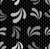 Seamless repeating pattern of small bars and abctract petals. Stock Photos