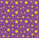 Seamless repeating pattern of stars Stock Photo