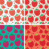 Vector seamless repeating strawberry patterns Stock Photo